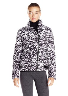 Marc New York Performance Women's Printed Puffer Asym Moto Jacket