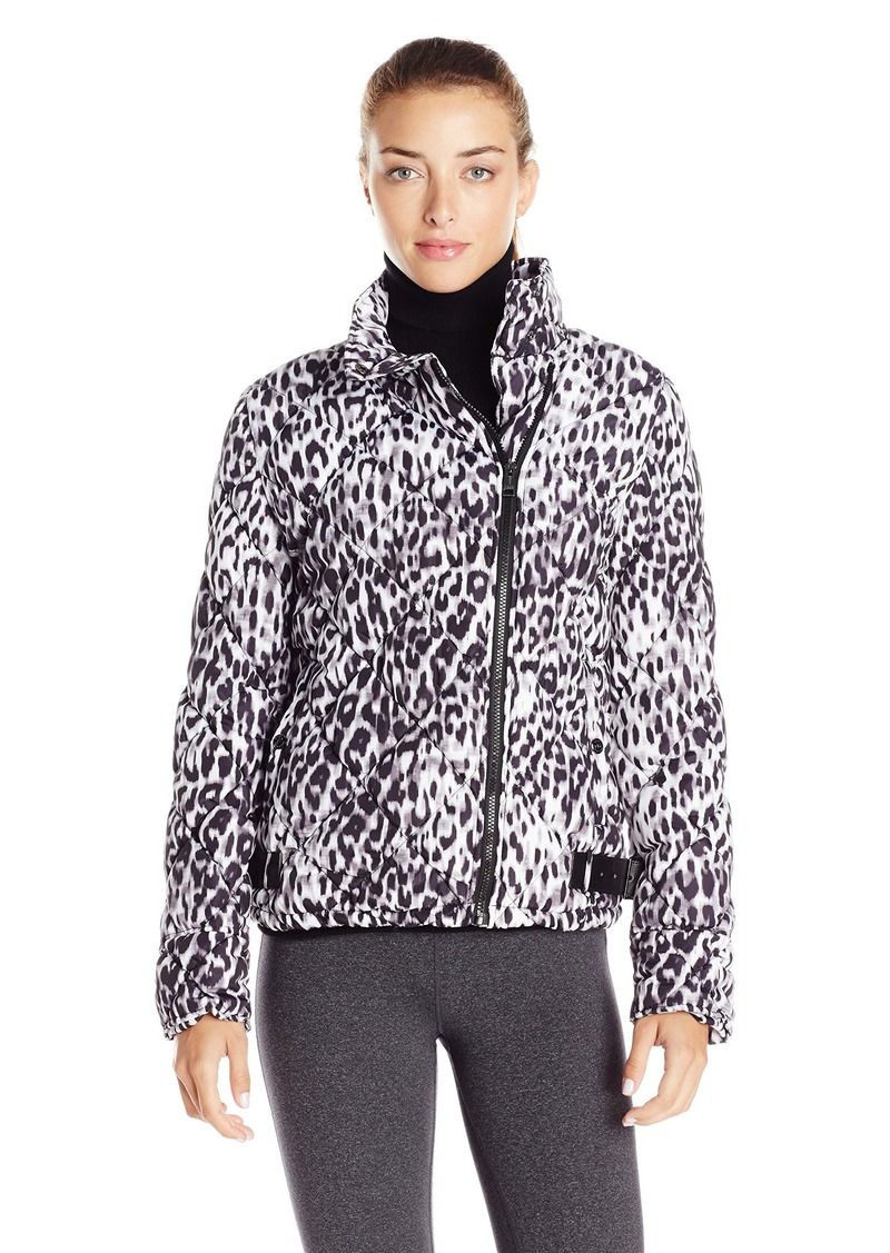 Andrew Marc Marc New York Performance Women's Printed Puffer Asym Moto Jacket
