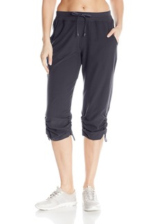 Marc New York Performance Women's Rib Waistband Crop Pant W/ Adjustable Hem  XL