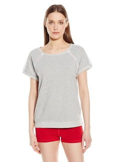 Marc New York Performance Women's S/Boxy Top Mesh Insets