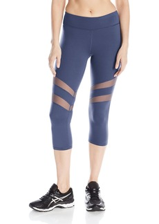 Marc New York Performance Women's Solid Capri with Mesh Insets