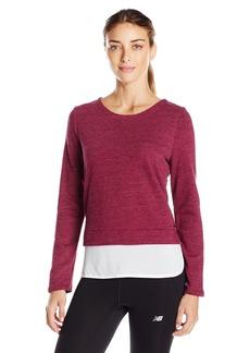 Marc New York Performance Women's Space Dye 2-Fer Sweatshirt  S