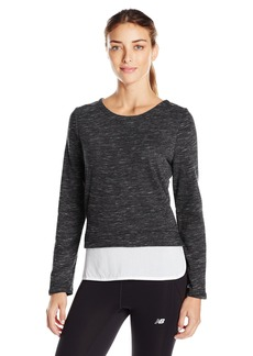 Marc New York Performance Women's Space Dye 2-Fer Sweatshirt  XS
