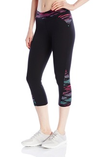 Marc New York Performance Women's Spliced Printed Crop Legging