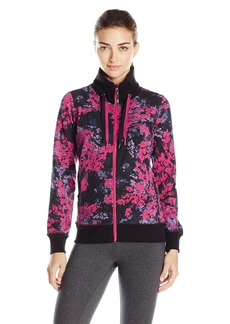 Marc New York Performance Women's Printed Track Jacket with Double Zipper