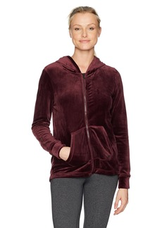 Marc New York Performance Women's Velvet Zipup Jacket  M