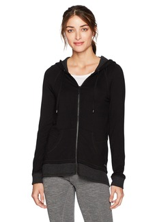 Marc New York Performance Women's Zip Hoodie With Stripe Thermal  XL