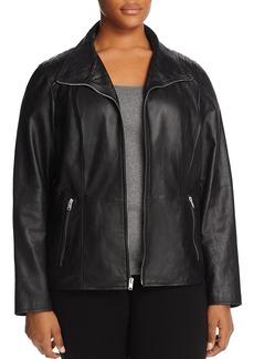 Marc New York Plus Fabiana Leather Jacket