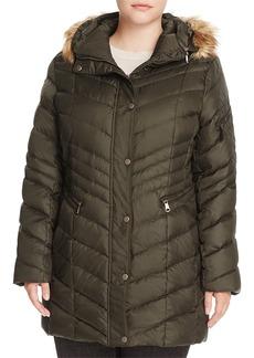 Andrew Marc Marc New York Plus Renee Faux Fur Trimmed Puffer Coat