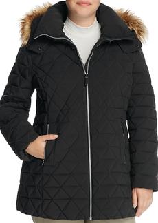 Andrew Marc Marc New York Plus Tobi Faux Fur Trimmed Puffer Coat