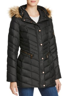 Marc New York Renee Faux Fur Trim Down Coat