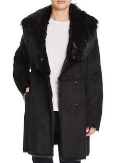 Marc New York Sarah Asymmetric Front Faux Shearling Coat