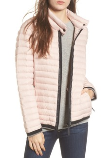 Andrew Marc Marc New York Stripe Trim Packable Down Jacket