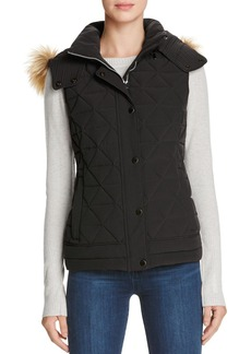 Marc New York Thea Faux Fur Trim Pyramid Vest