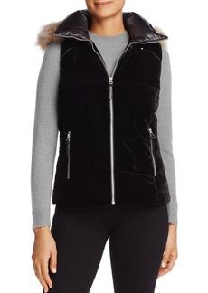 Marc New York Val Velvet Puffer Vest