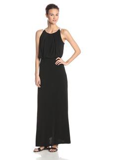 Marc New York Women's Halter Neck Bouson Color Block Maxi Dress