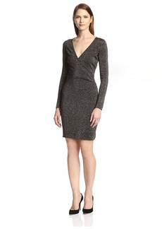 Marc New York Women's Lurex Front Wrap Knit Dress  XL