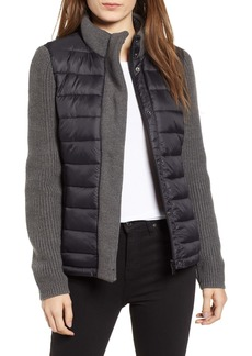 Andrew Marc Mark New York Packable Knit Trim Puffer Jacket