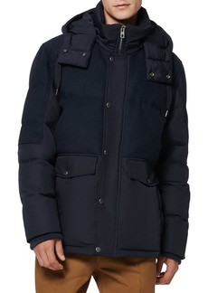 Men's Andrew Marc Rhodes Water Resistant Hooded Puffer Jacket
