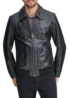 Andrew Marc Men's Vaughn Zip-Front Leather Jacket