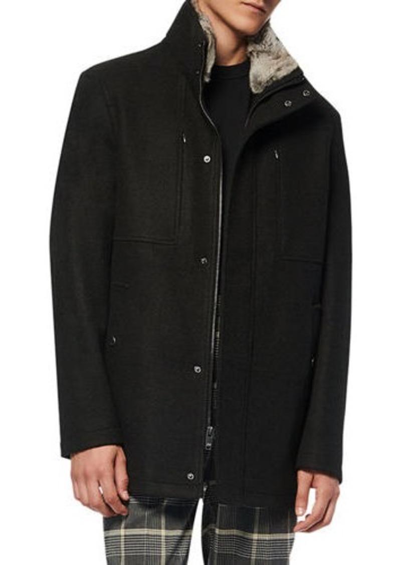 Andrew Marc Men's Westerhall Coat w/ Fur Trim