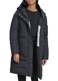 Andrew Marc Moxie Reversible Down-Fill Metallic Parka Coat