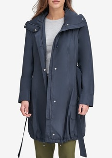 Andrew Marc Navarre Hooded Rain Jacket