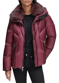 Andrew Marc Naya Down-Fill Parka Coat w/ Fur Hood