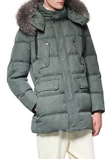 Andrew Marc Rockland Fox Fur-Trim Down Parka