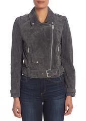 Andrew Marc Sabrina Suede Moto Jacket (Regular & Plus Size)
