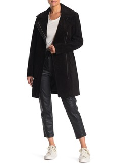 Andrew Marc Sienna 33 Suede Belted Trench Coat