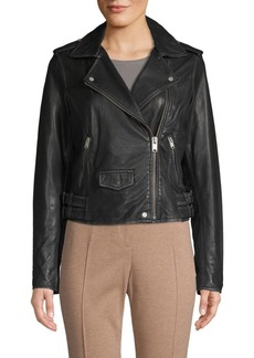 Andrew Marc Weslyn Leather Moto Jacket
