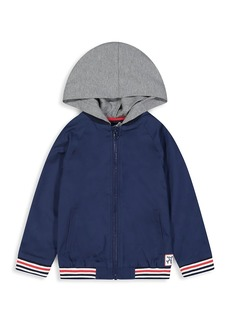 Andy & Evan Little Boy's & Boy's Brushed Twill Hooded Bomber Jacket