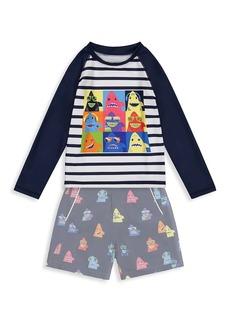 Andy & Evan Little Boy's 2-Piece Rashguard Long-Sleeve & Shorts Set