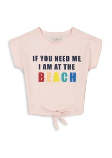 Andy & Evan Little Girl's & Girl's Front Twist Beach T-Shirt
