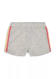 Andy & Evan Little Girl's & Girl's Rainbow Side Stripe Fleece Shorts