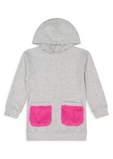 Andy & Evan Little Girl's Faux Fur Pocket Hoodie