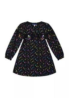 Andy & Evan Little Girl's Foil Confetti Dress