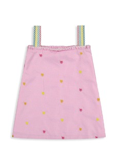 Andy & Evan Little Girl's Gingham Embroidered Shift Dress