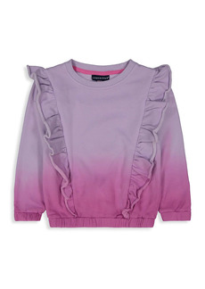 Andy & Evan Little Girl's Ruffled Ombre French Terry Sweatshirt
