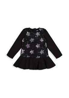 Andy & Evan Little Girl's Star Sequin Dress