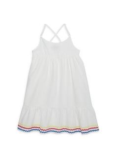 Andy & Evan Little Girl's Striped Flounce Dress