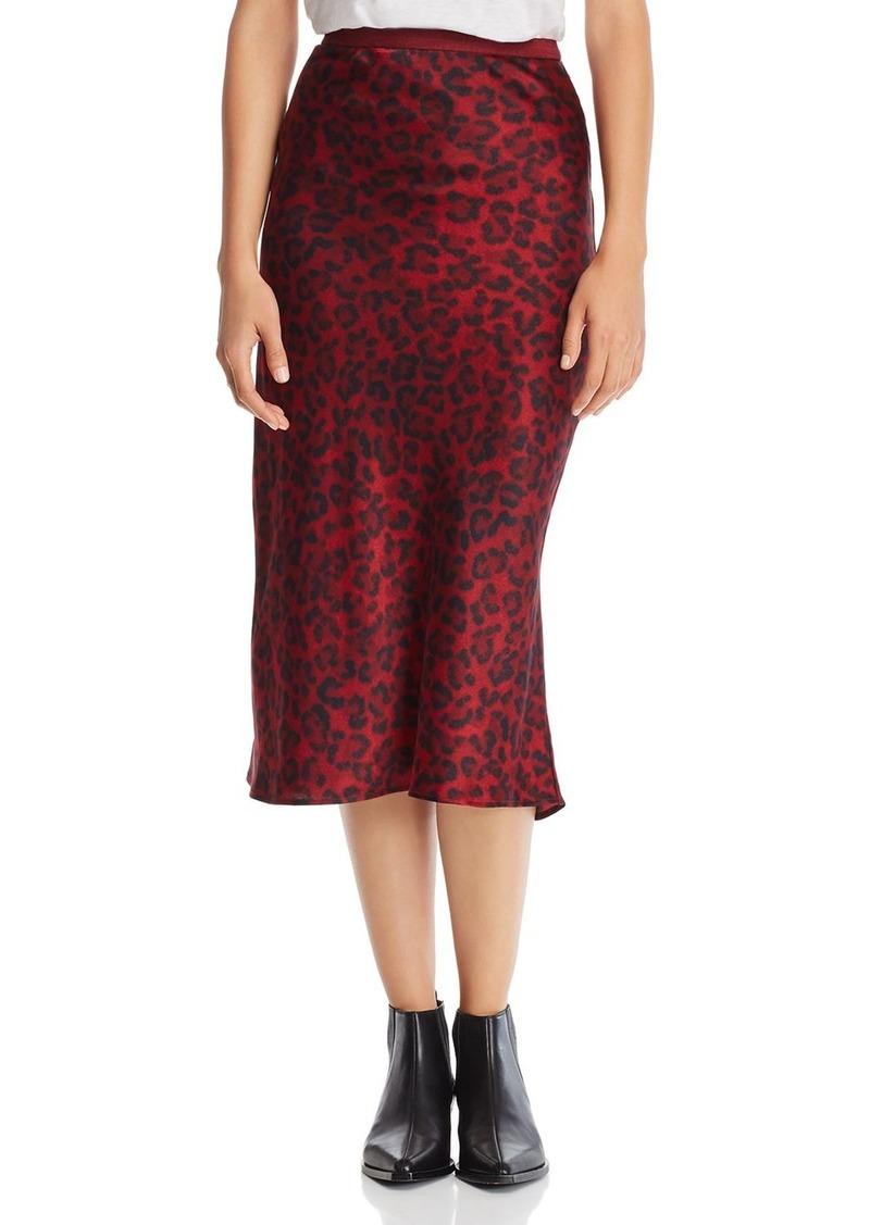 cfcc622bd1a08f Anine Bing Anine Bing Bar Leopard Silk Skirt | Skirts
