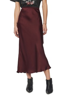 ANINE BING Bar Silk Midi Skirt