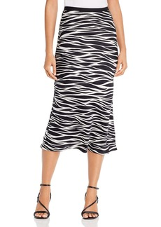 Anine Bing Bar Silk Printed Midi Skirt