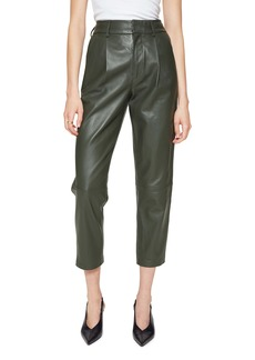 ANINE BING Becky Crop Leather Trousers