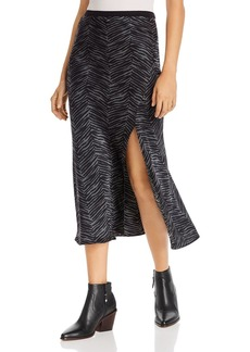 Anine Bing Dolly Zebra-Print Silk Skirt
