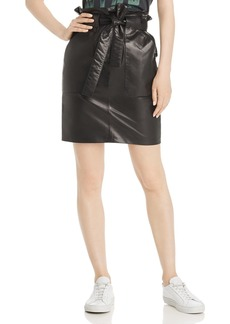 Anine Bing Laurie Leather Mini Skirt