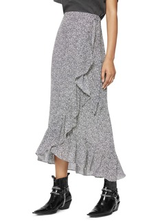 Anine Bing Lucky Ruffled Wrap Skirt