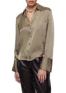 ANINE BING Mackenzie Silk Button-Up Top